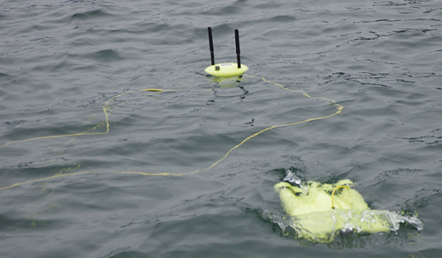 Gladius and Wi-Fi buoy in water