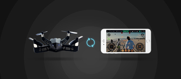 Kudrone with smartphone